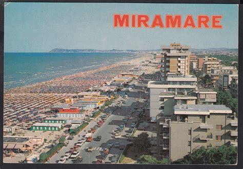 di rimini miramare miramare di rimini cartolina colori degli anni 60 car02170
