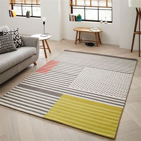 yellow living room rugs scandi style wool rug eclectic rooms lounge wool yellow and rugs