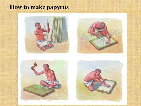 How Did The Ancient Make Paper - papyrus