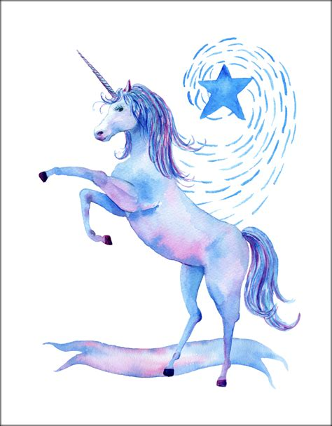 Wall Sticker Quotes For Bedrooms by Free Printable Watercolor Unicorn Pictures Unicorn