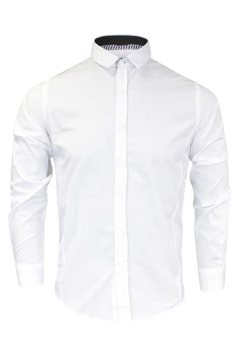 Plain Collared Coat mens boys plain white sleeve shirt cotton collared