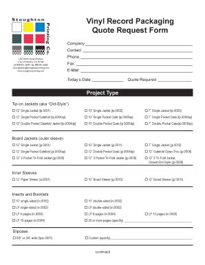 design request form pdf fillable online vinyl record packaging quote request form
