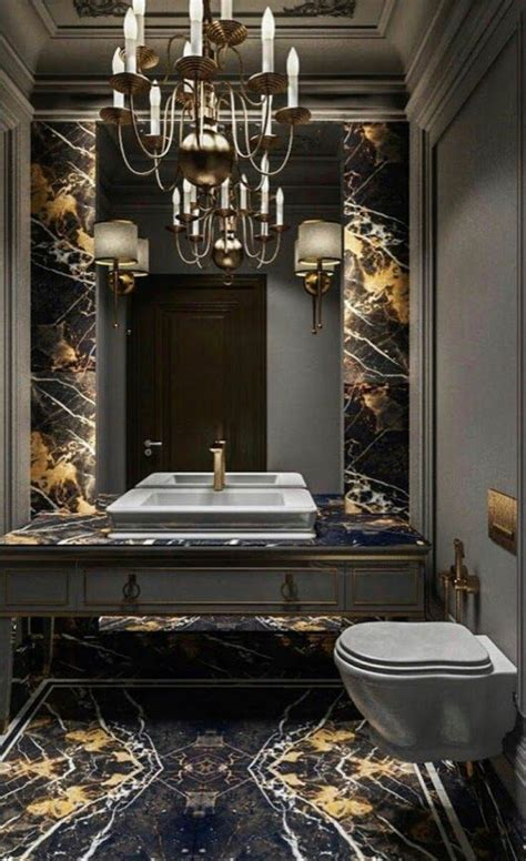 powder room black marble bathroom elegant bathroom