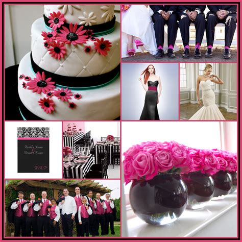 Pink And Black Wedding Ideas by 16 Best Photos Of Pink And Black Centerpieces Ideas