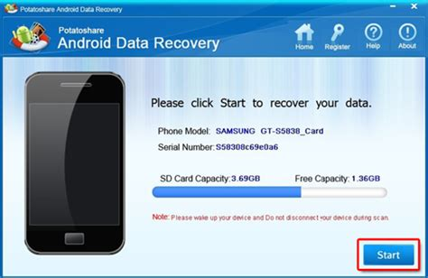 android data potatoshare android data recovery