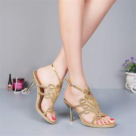 Gold Bridal Sandals by Popular Gold Strappy Heels Buy Cheap Gold Strappy Heels