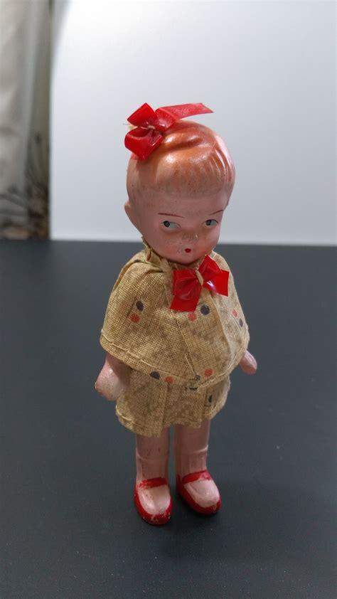 jointed doll japan bow bisque doll japan jointed arms