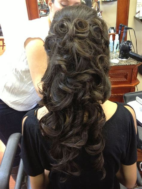 hairstyles for 18th birthday party soft curly formal hairstyle for long hair hair by