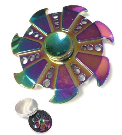Fidget Spinner Metallic Rainbow Mainan Diskon jual fidget spinner rainbow metal crab di lapak cahaya