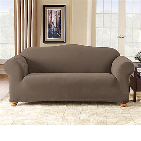 1 piece sofa slipcover sure fit 174 stretch pixel corduroy 1 piece sofa slipcover