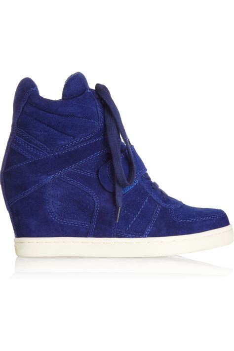 cobalt blue sneakers ash cool suede wedge high top sneakers cobalt blue ijshoes