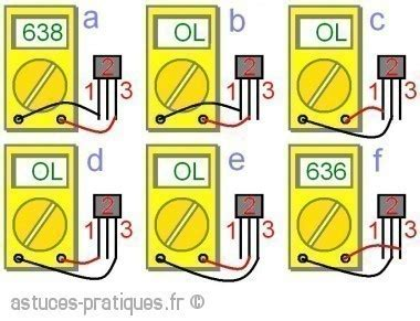Comment Tester Une Diode 5387 by Le Transistor Bipolaire Test Au Multim 232 Tre