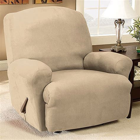recliner slipcover walmart sure fit stretch suede recliner slipcover walmart com