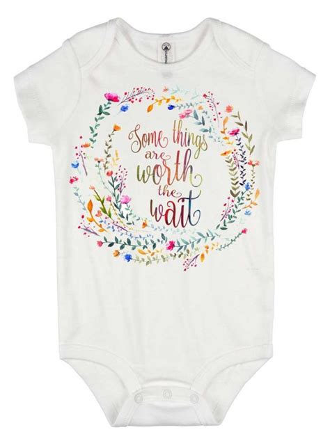 quotable baby shirts quotes worth the wait onesie rainbow baby romper some things are worth the wait