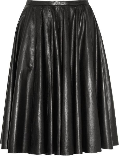 mcq by mcqueen leather circle skirt in black lyst