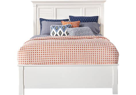 belmar white 3 pc queen bed panel traditional