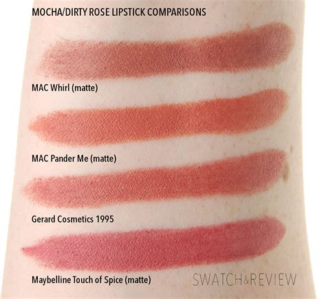 mac lipstick shades on pinterest mac lipstick swatches mac whirl pander me matte lipstick gerard cosmetics 1995