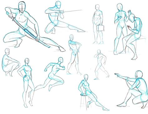 Anime Poses by The Gallery For Gt Anime Fighting Pose Reference