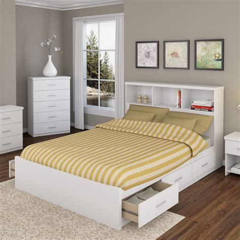 white wood queen bed queen bed with shelf headboard awesome wood storage