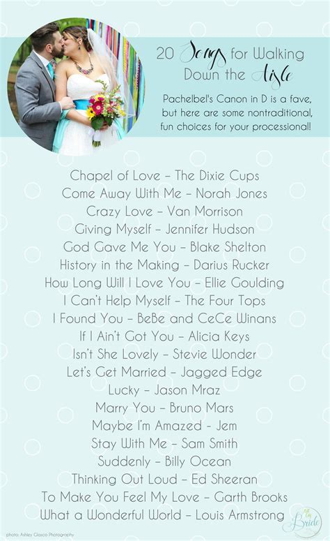20 Songs for Walking Down the Aisle » Hill City Bride