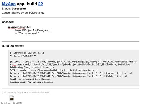 format jenkins email how to include git changelog in jenkins emails stack