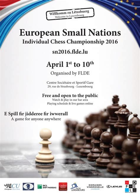 Release Letter Ecu 2nd European Small Nations Chess Chionship 2016 Press Release 171 Ecu