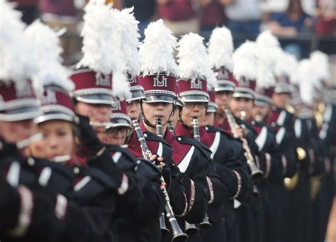 sections of a marching band um marching band spends week prepping before the big show
