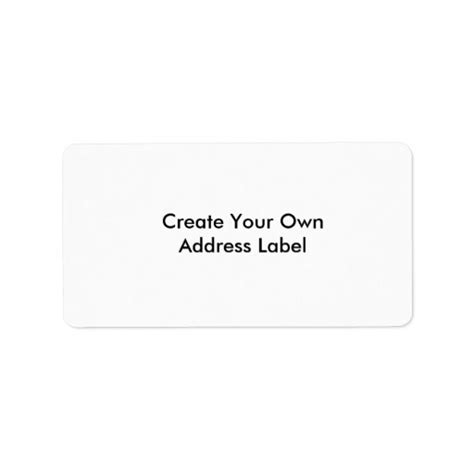 design your label create your own address label zazzle
