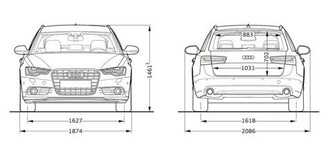Audi A6 Size Dimensions by Audi A6 Dimensions Auto Express
