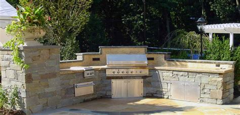 built in outdoor kitchens bbq outdoor kitchens nj built in grill fireplace design ideas