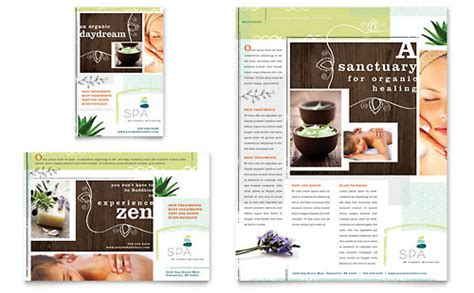 spa brochure templates free health spa leaflet templates health