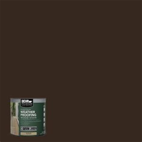 behr premium 8 oz sc105 padre brown solid color weatherproofing all in one wood stain and