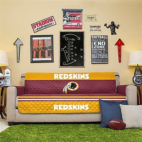 redskins sofa nfl washington redskins sofa cover bed bath beyond