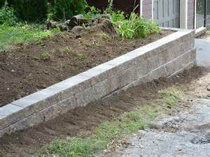 steps diy wall diy retaining wall simple steps for building retaining wall with the