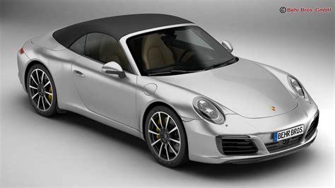 Porsche Carrera Models by Porsche 911 Carrera Cabriolet 2017 3d Model Buy Porsche