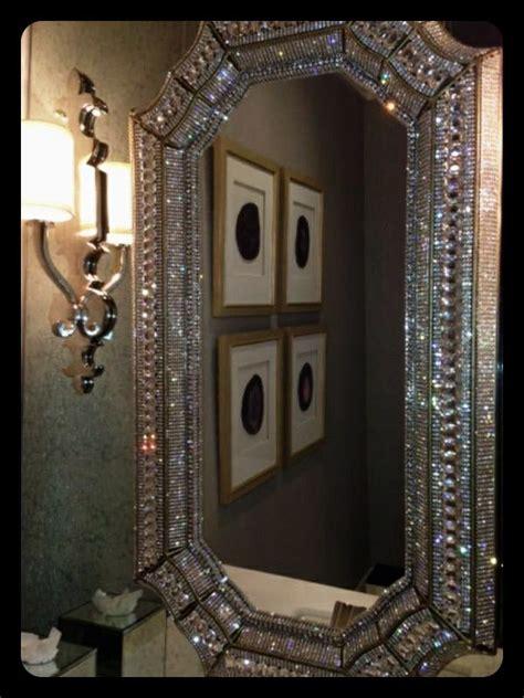 bling bathroom mirrors swarovski mirror so beautiful stuff i like pinterest