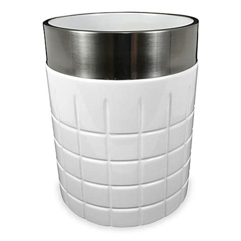 modern bathroom wastebasket hotel ceramic bathroom wastebasket bed bath beyond