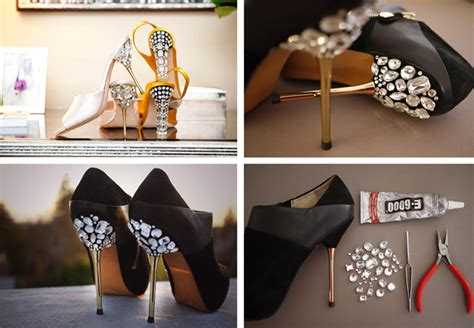diy jeweled shoes high heel shoes makeover diy jeweled heels s