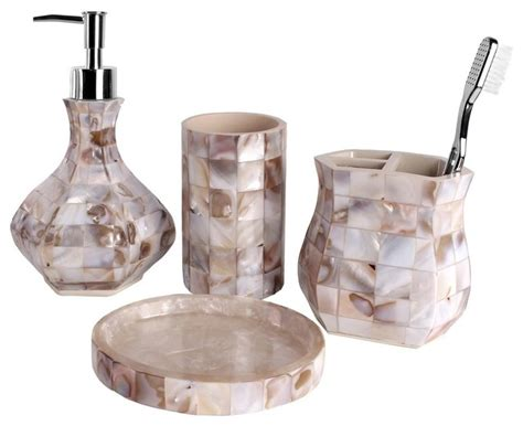 4 bath accessory set of pearl