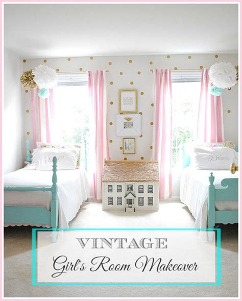 vintage bedroom color schemes girls room decorated in pink white and aqua vintage