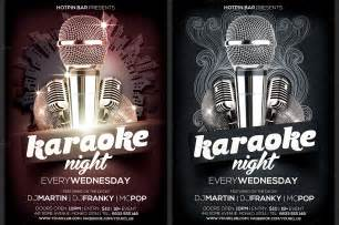 karaoke night flyer template flyer templates on creative