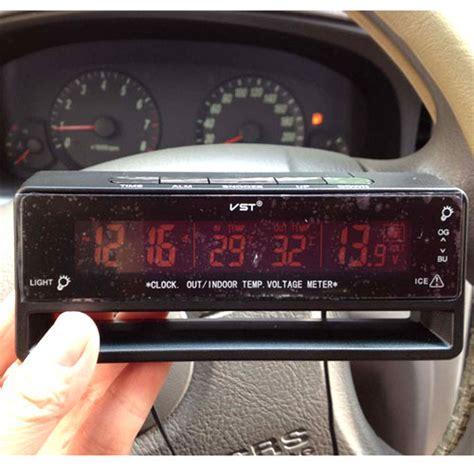 Jam Digital Sensor Unik baru jual termometer voltmeter jam digital untuk mobil unik