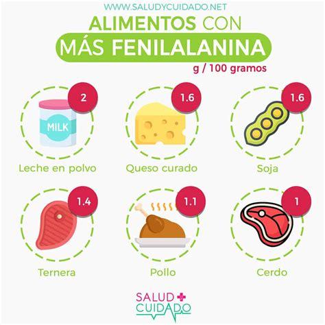 alimentos mas ricos en fenilalanina beneficios  funciones