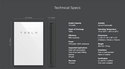 Tesla Battery Specs Tesla Powerwall 2 Now Shipping With 2170 Gigafactory