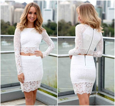 Dress Set sleeve white lace two dress set on luulla