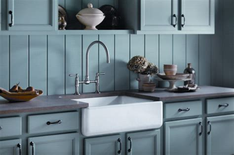 country blue kitchen cabinets soft blue country kitchen