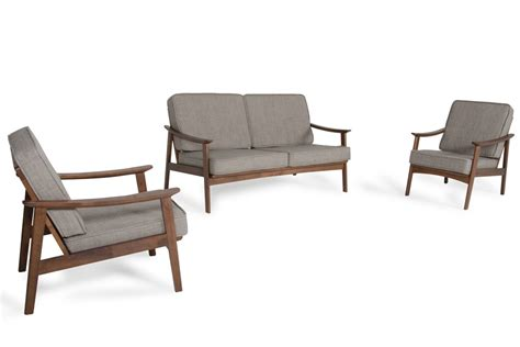 modrest ridge modern sesame walnut sofa set