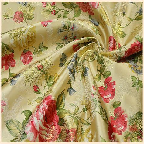 Segiempat Satin Emboss Jacquard Silk 10 ethnic floral jacquard tapestry satin silk brocade fabric for wedding dress clothes dolls