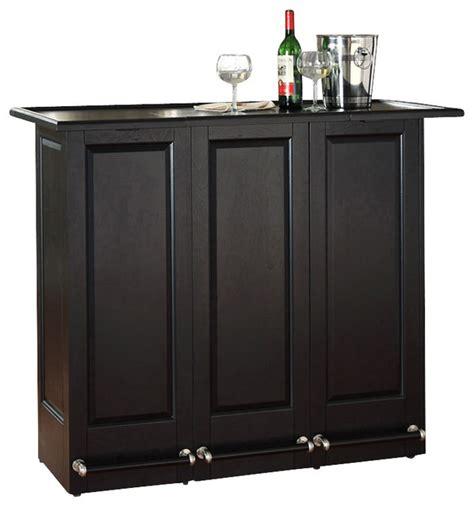 Folding Home Bar Cabinet Mobile Folding Bar Black Modern Drinks Cabinets By Pot Racks Plus