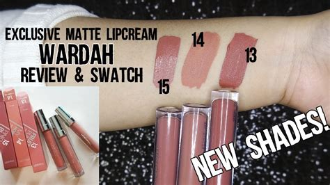 New Shade Warna Baru Wardah Exclusive Matte Lip 1 review swatches wardah exclusive matte lipcream new
